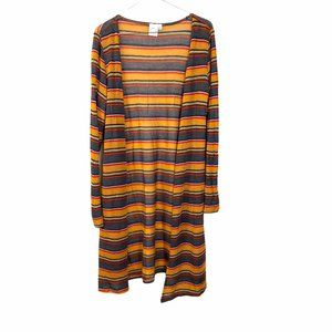Live in the moment Striped Yellow Cardigan